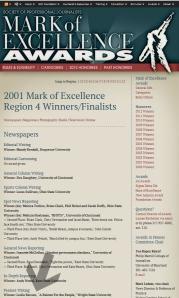 2001 SPJ Winners