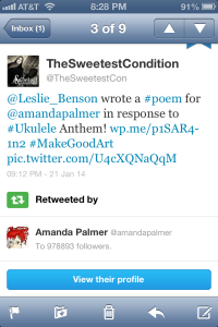 Retweet by Amanda Palmer 1-21-14