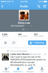 Retweet by Chris Lee 5-14-14