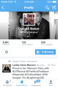Retweet by Dwight Baker 7-3-14