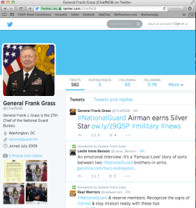 Retweet by GEN Frank Grass 7-15-14