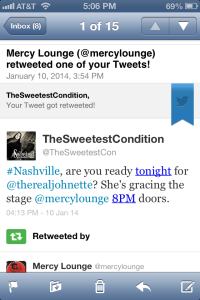 Retweet by Mercy Lounge 1-10-14