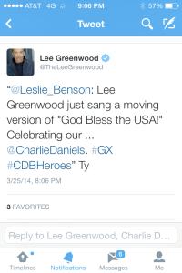 Tweet by CDBHeroes - Lee Greenwood 3-25-14 b