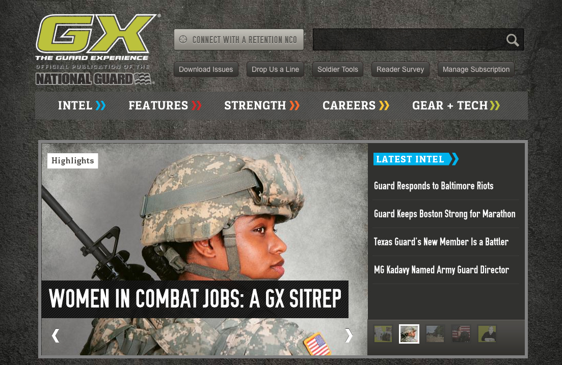 Gx Magazine Addresses Women In Combat Issues The Art Of