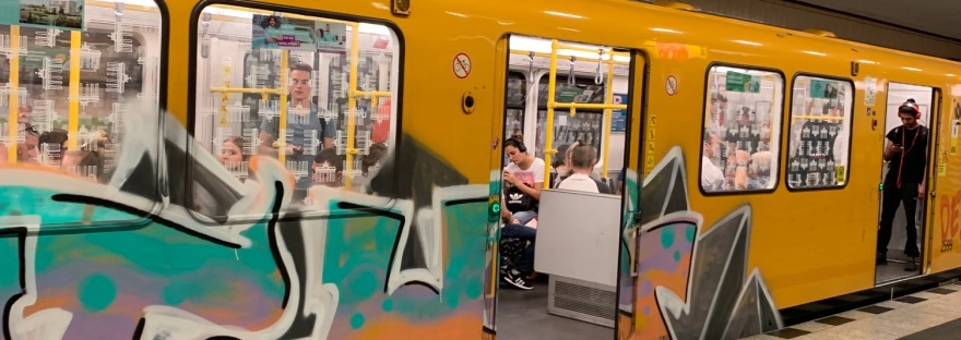 U-Bahn train car, Berlin